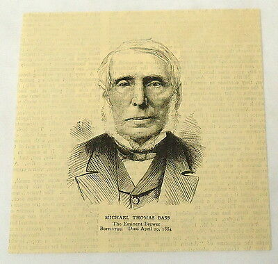 1884 magazine engraving~ MICHAEL THOMAS BASS British Brewer & House of Commons