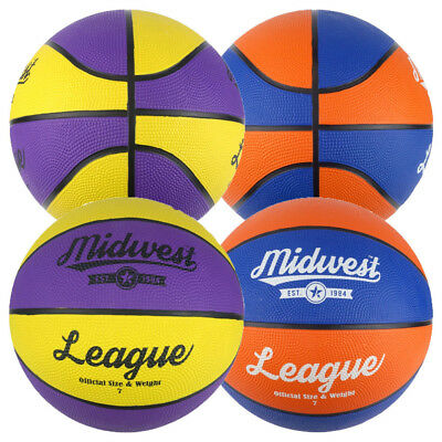Midwest League Basketball Ball - All Sizes - Yellow / Purple or Blue / Orange