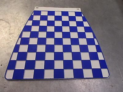 Scooter Classic Checkered Checked Mud Flap Mudflap Blue And White