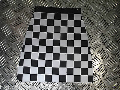 Classic Scooter Checkered Checked Mud Flap Mudflap Black And White