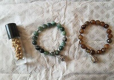 Lisa Hoffman bracelets partylite Brown green inspiration fragrance beads perfume