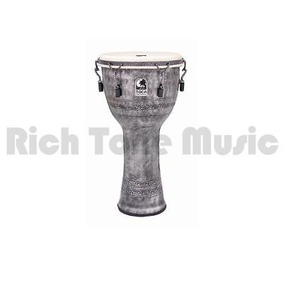 Toca SFDMX-12AS 12 Inch Synergy Freestlye Djembe - Mech Tuned - Antique Silver