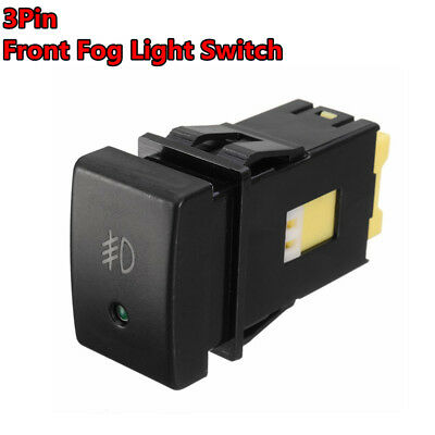 3 Pin Front Fog Lamp LED Bulb Light Switch Button For Suzuki Grand Vitara Jimny