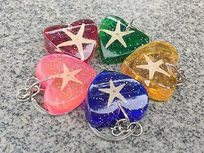 12 pcs Mixed Colorful Heart Style Keychain Vintage Jewelry