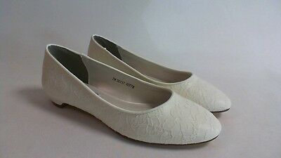 New: Touch Ups Bridal/Evening Shoes - Yvette - Ivory - US 8.5 M - UK 6.5 #18R419