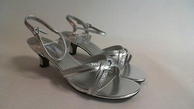 Touch Ups Bridal/Evening Shoes - Silver - Melanie - US 9 W UK 7 #18R420
