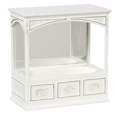 Dolls House Hand Painted JBM Built in Bath Tub Miniature Bathroom Furniture