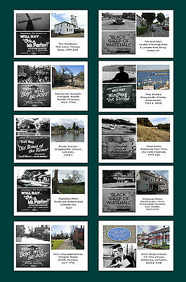 Will Hay Films - Then & Now - Film Locations Postcard Set # 1