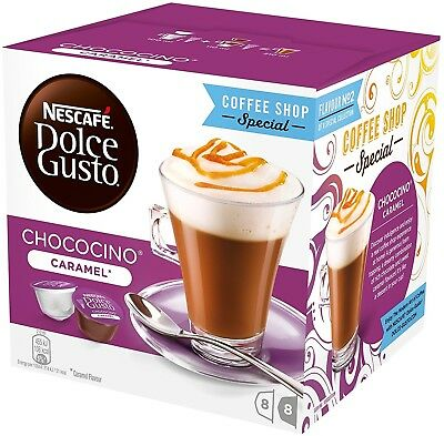 Nescafé Dolce Gusto Chococino Caramel, Pack of 3 Total 48 Capsules Drink Pods