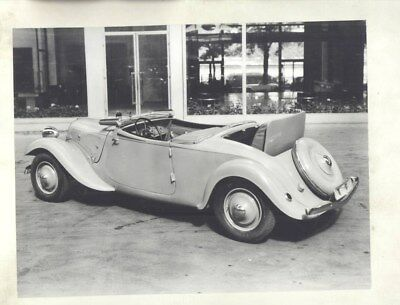 1934 Citroen Traction Avant 11W FW Cabriolet ORIGINAL Factory Photograph wy3109
