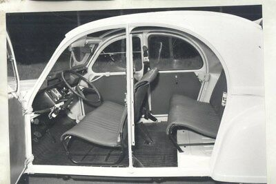 1968 ? Citroen 2CV ORIGINAL Interior Factory Photograph wy3136