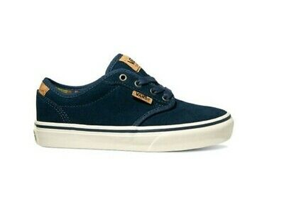 8b150841c7 VANS ATWOOD DELUXE Youth Boy girl Canvas Palm Leaf Blue white Lace ...