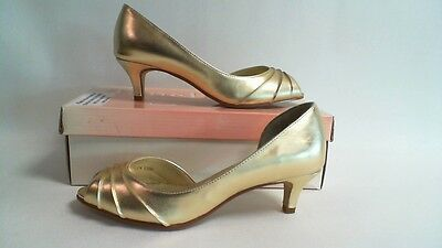 """Touch Ups Wedding Shoes - HH 1 3/4"""" - Gold - Abby- US 10W UK 8 #15R391"""