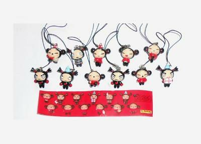 Pucca Lot 11 Charms Figurines Panini