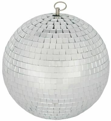QTX Glass 20cm Diameter Club Disco Mirror Ball Glittering Effect Display