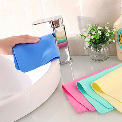 4pcs Useful Faux Deerskin Washing Cloth Water Absorbent Cleaning Washing Towel