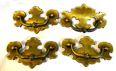 Vintage Antique Style Brass/brass Plated Drawer Pulls 4