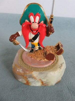 Yosemite Sam Ron Lee Signed/#ed Warner Bros 24K Sculpture Yo-Ho-Ho Pirate