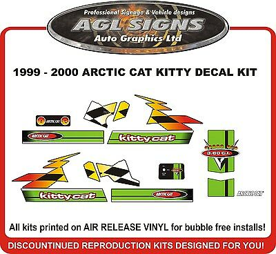 1999 2000 ARCTIC CAT Kitty Cat Decal kit  Reproductions