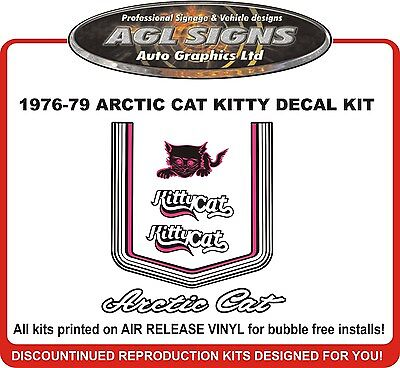 1976 1977 1978 1979  ARCTIC CAT Kitty Cat Decal kit  Reproductions