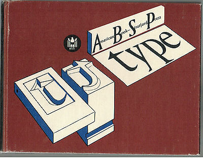 ABSP TYPE Book - American Book Stratford Press - Printing / Lettering / Design