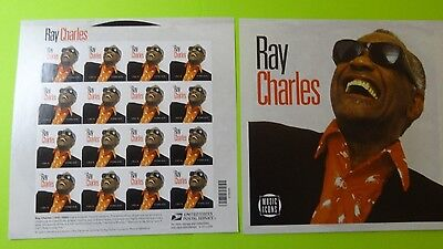 Stamps US * SC 4807 * 2013 * Ray Charles * Pane of 20 * 46c * Forever * MNH