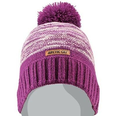 Arctic Cat Purple Noise with Pom Marled Knit Beanie - Magenta White - 5283-115
