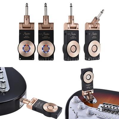 2.4G Wireless Electric Guitar Transmitter Receiver Set Rechargeable Hot O4S7