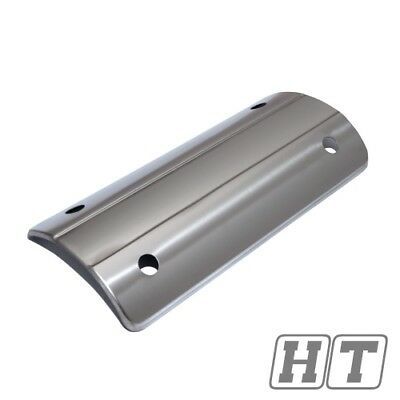 Exhaust trim panel heat shield plate for scooter