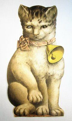 RARE 1880s Victorian Trade Card Die Cut Cat Bogue's Soap New York NY C779