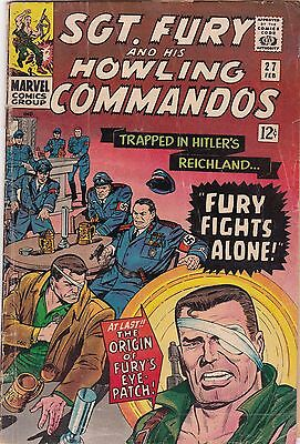 1966 Marvel Comics Sgt. Fury & Howling Commandos #27 AB