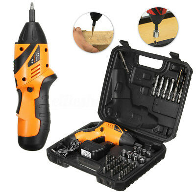 Electric Drill Driver Bits Set Screwdriver Wireless Battery & Recharger Cordless