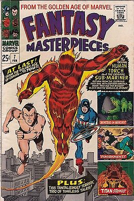 1966 Marvel Fantasy Masterpieces Comic Book #7 W/Captain America Human Torch AB