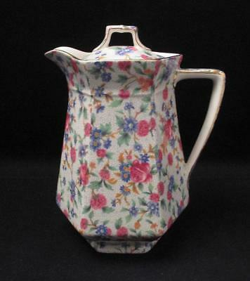 Art Deco Royal Winton Grimwades England Old Cottage Chintz Hot Water Pot Sexta