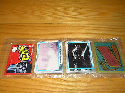 1980 Topps Stars Wars Unopened Empire Strikes Back Trading Card Rack Pack A