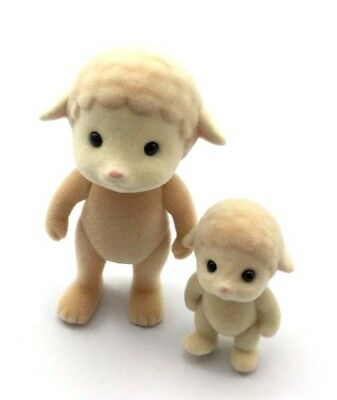 2pcs Sylvanian Families Toys Sheep Family Calico Critters Animal Figure Doll Toy