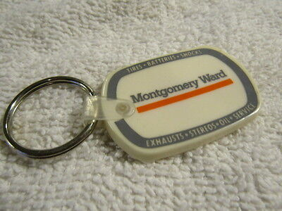 Vintage MONTGOMERY WARD AUTO Center Key Chain 70s Tires Batteries Shocks Stereos