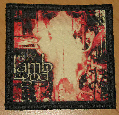 "LAMB OF GOD ""AS THE PALACES BURN"" silk screen PATCH"