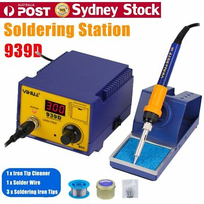 Digital 75W Soldering Iron Station Lead Free ESD Safe Welding Tool Stand Kit TH