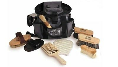 Charles Bentley Horse Grooming Set Brush Pony Wooden 10 Piece Deluxe Premium