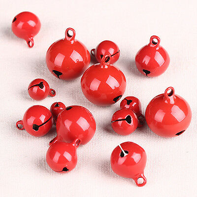 Red Jingle Bells Jewelry Accessory DIY Crafts Christmas Decoration Pet Collar