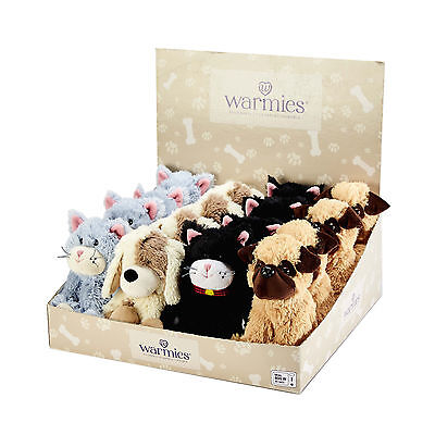 Warmies Mini Cozy Plush Microwavable Bedtime Pet Themed Small Teddy Heatable Toy