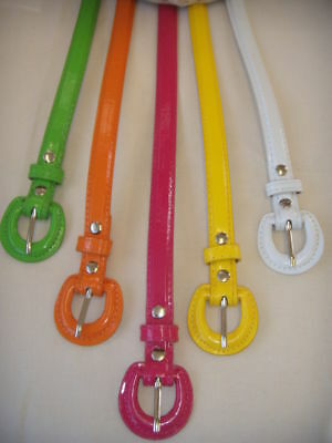 Funky Thin Shiny Skinny belt 5 Colours to choose from