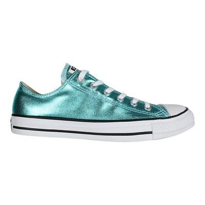 bc7cc0ec005a Converse Unisex Chuck Taylor All Star Trainers Low OX Fresh Cyan (Metallic  Blue)