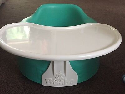 Bumboo Seat With Tray-green Colour