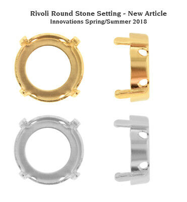 NEW Genuine SWAROVSKI Round Stones Settings Fits to 1122 Rivoli Crystals
