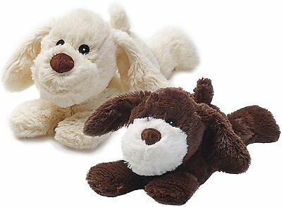 Warmies Cozy Plush Laying Puppy Fully Microwavable Soft Heatable Bed Time Warmer