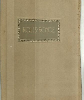 1928 Rolls Royce Phantom Prestige Sales Catalog - U.s.a. & United Kingdom