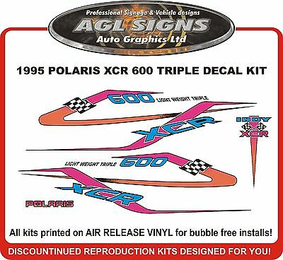 1995 POLARIS INDY XCR 600 Triple Decal Kit  Reproductions