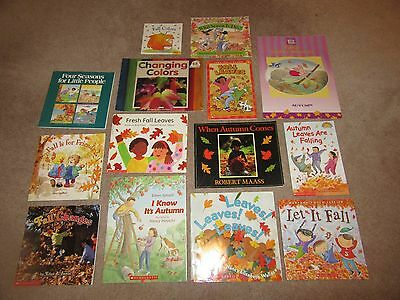 Lot of 14 Picture Books for Children Fall Autumn Leaves Fall Colors Seasons